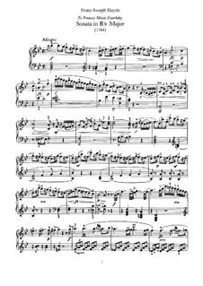 Sonate für Klavier Nr.55 in B-Dur, Hob.XVI/41: Für einen Interpreten by Joseph Haydn