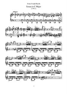 Sonate für Klavier Nr.60 in C-Dur, Hob.XVI/50: Für einen Interpreten by Joseph Haydn