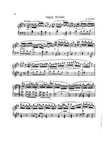 Klaviertrio Nr.39 in G-Dur, Hob.XV/25: Teil III. Version für Klavier by Joseph Haydn