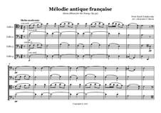 Nr.16 Altes französisches Lied: For cellos quartet by Pjotr Tschaikowski