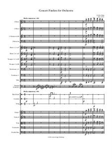 Concert Fanfare for Orchestra: Concert Fanfare for Orchestra by Jordan Grigg