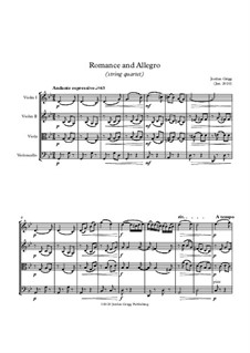 Romance and Allegro (string quartet): Romance and Allegro (string quartet) by Jordan Grigg