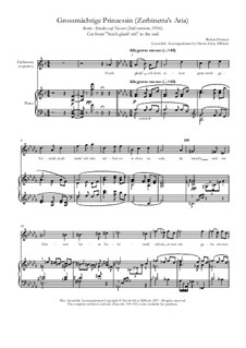 Ariadne auf Naxos: Grossmächtige Prinzessin (Zerbinetta, from Noch glaub' ich) by Richard Strauss