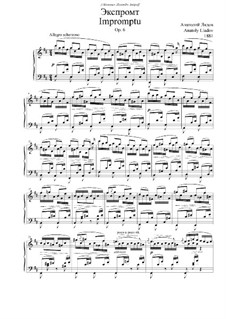 Impromptu in D-dur, Op.6: Für Klavier by Anatoli Ljadow