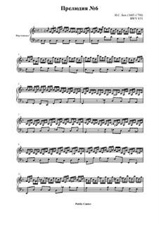 Präludium und Fuge Nr.6 in d-Moll, BWV 851: Präludium by Johann Sebastian Bach