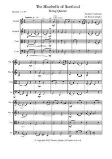 Blue Bells of Scotland: Für Streichquartett by folklore