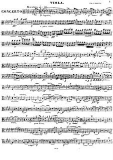Vollständiger Konzert: Bratschenstimme by Frédéric Chopin