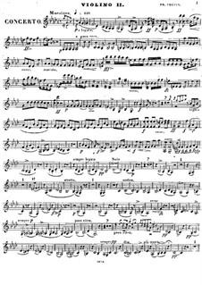 Vollständiger Konzert: Violinstimme II by Frédéric Chopin