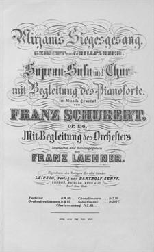 Mirjam's Siegesgesang, D.942 Op.136: Für Sopran, Chor und Orchester by Franz Schubert
