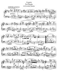 La fleurie ou La tendre nanette: Für Klavier by François Couperin