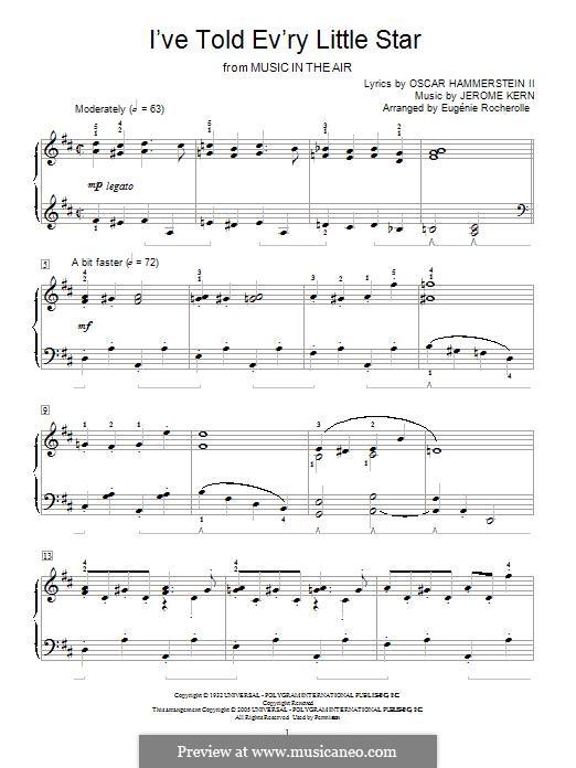 I've Told Ev'ry Little Star: Für Klavier by Jerome Kern