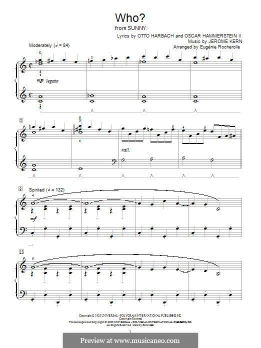 Who?: Für Klavier by Jerome Kern