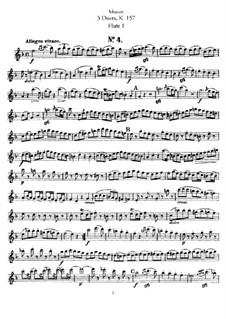 Duette für zwei Flöten: Flötenstimme I by Wolfgang Amadeus Mozart