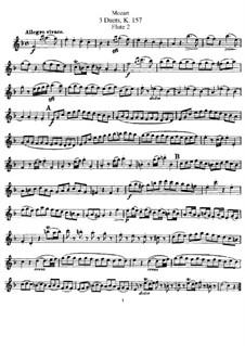 Duette für zwei Flöten: Flötenstimme II by Wolfgang Amadeus Mozart