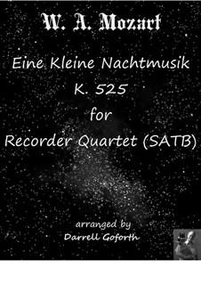 Vollständige Teile: For recorder quartet by Wolfgang Amadeus Mozart
