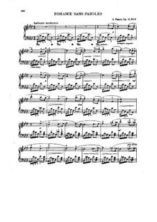 Romanzen ohne Worte, Op.17: No.3 in A Flat Major by Gabriel Fauré