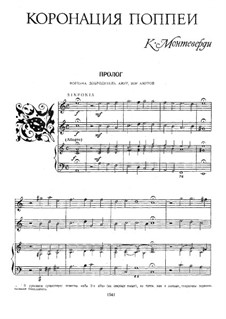 Die Krönung der Poppea, SV 308: Klavierauszug mit Singstimmen by Claudio Monteverdi
