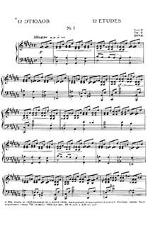 Zwölf Etüden, Op.8: Etüde Nr.1 by Alexander Skrjabin