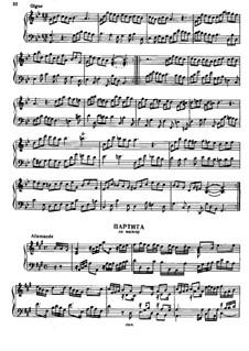 Partita in A-Dur, HWV 454: Partita in A-Dur by Georg Friedrich Händel