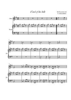 Carol of the Bells: Für Oboe und Klavier by Mykola Leontovych