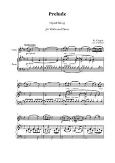 Nr.15 in Des-Dur: Für Violine und Klavier by Frédéric Chopin