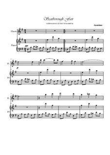 Scarborough Fair: Für Flöte und Piano by folklore