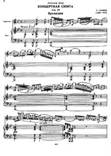 Konzertsuite für Violine und Orchester, Op.28: Präludium by Sergei Taneyev