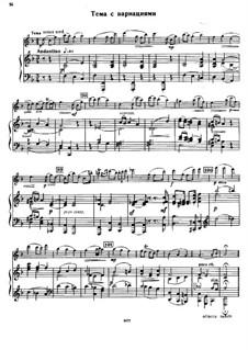 Konzertsuite für Violine und Orchester, Op.28: Tema con variazioni by Sergei Taneyev