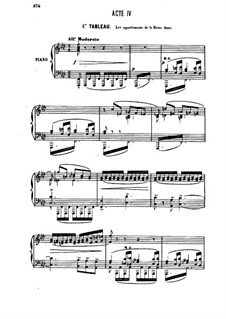 Henry VIII: Akt IV, für Soloists, Choir und Klavier by Camille Saint-Saëns