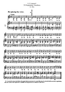 Twenty-Nine Preparatory Vocalises for Alto: Twenty-Nine Preparatory Vocalises for Alto by Giovanni Battista Lamperti