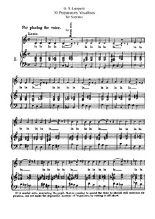 Thirty Preparatory Vocalises for Soprano: Thirty Preparatory Vocalises for Soprano by Giovanni Battista Lamperti