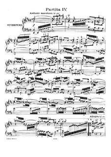Partita für Tasteninstrument Nr.4 in D-Dur, BWV 828: Für Klavier by Johann Sebastian Bach