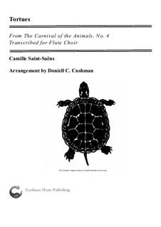 Tortoises: For flute choir by Camille Saint-Saëns