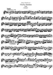 Sonate Nr.1: Solostimme by Johann Mattheson