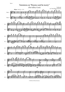 Rejoice and Be Merry (The Gallery Carol): Variations, for flute duo by folklore