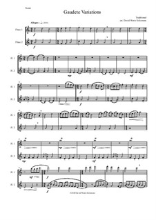Gaudete Variations: For flute duo by folklore
