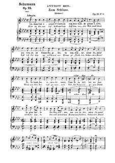 Nr.26 Zum Schluss: Klavierauszug mit Singstimmen (Deutsch, Französisch) by Robert Schumann