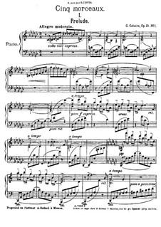 Fünf Stücke für Klavier, Op.10: Nr.1 Präludium by Georgy Catoire