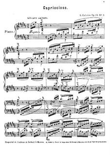 Fünf Stücke für Klavier, Op.10: Nr.3 Capriccioso by Georgy Catoire