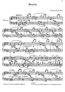 Fünf Stücke für Klavier, Op.10: No.4 Rêverie by Georgy Catoire