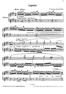 Fünf Stücke für Klavier, Op.10: Nr.5 Legende by Georgy Catoire