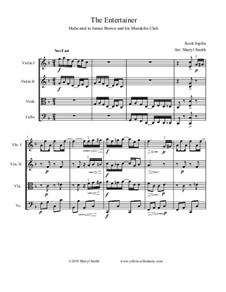 The Entertainer: Für Streichquartett by Scott Joplin