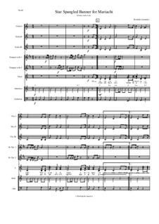 The Star Spangled Banner (National Anthem of The United States): For Mariachi by John Stafford Smith