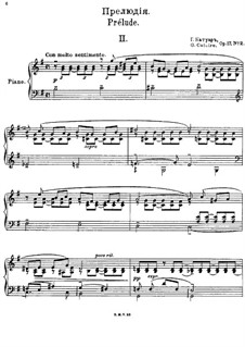 Vier Präludien für Klavier, Op.17: Präludium Nr.2 by Georgy Catoire