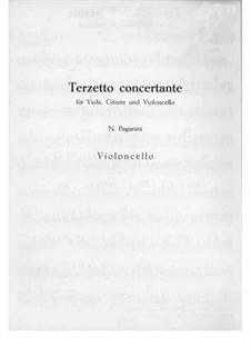 Terzett-Konzert für Bratsche, Cello und Gitarre, MS 114: Cellostimme by Niccolò Paganini