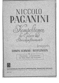 Terzett-Konzert für Bratsche, Cello und Gitarre, MS 114: Gitarrenstimme by Niccolò Paganini