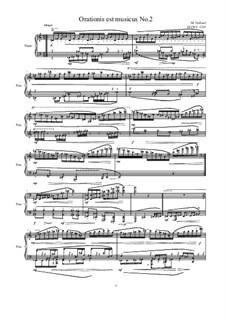 Orationis est musicus No.2 for piano, MVWV 1335: Orationis est musicus No.2 for piano by Maurice Verheul