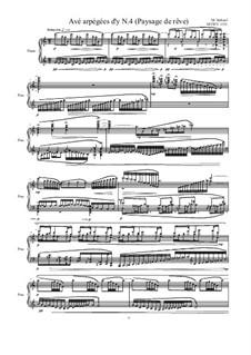 Avé arpégées d'y (Paysage de rêve) for piano: Nr.4, MVWV 1331 by Maurice Verheul