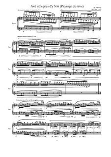 Avé arpégées d'y (Paysage de rêve) for piano: Nr.6, MVWV 1333 by Maurice Verheul