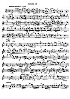 Sonate Nr.11: Solostimme by Johann Mattheson